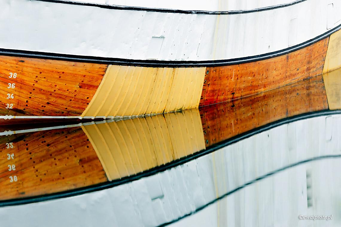 fotowypawa na Lofoty - Odbicie łódki, Lofoty