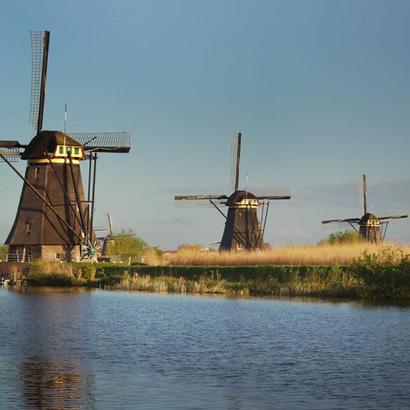 Poranek w Kinderdijk, Holandia