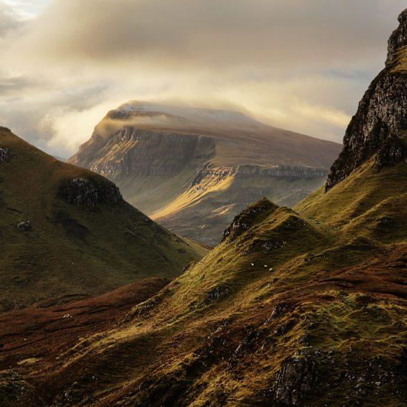 Ostatni widok na góry Quiraing, Szkocja