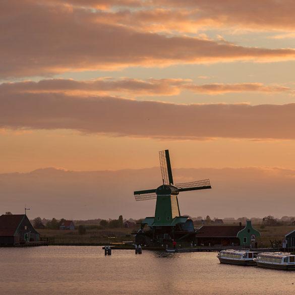 Wiatraki Zaanse Schans, Holandia