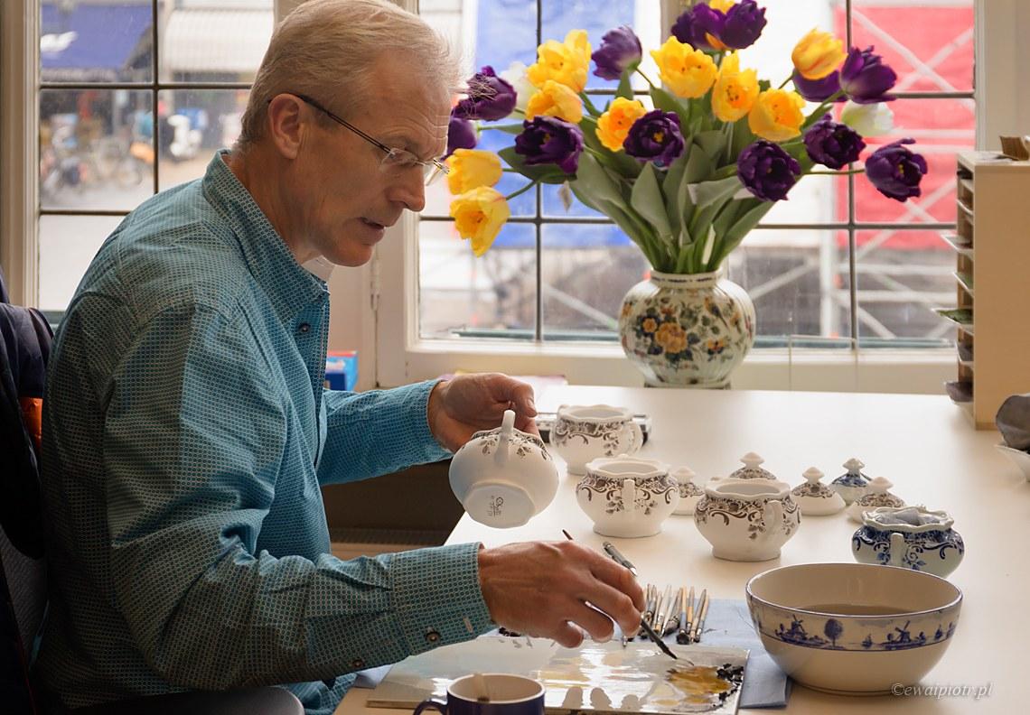 Delft, malowanie ceramiki