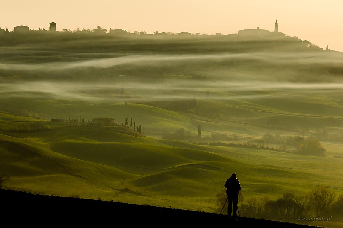 Pienza i mgły, Toskania