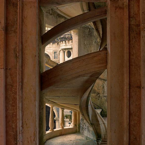 schody w klasztorze w Tomar, Portugalia
