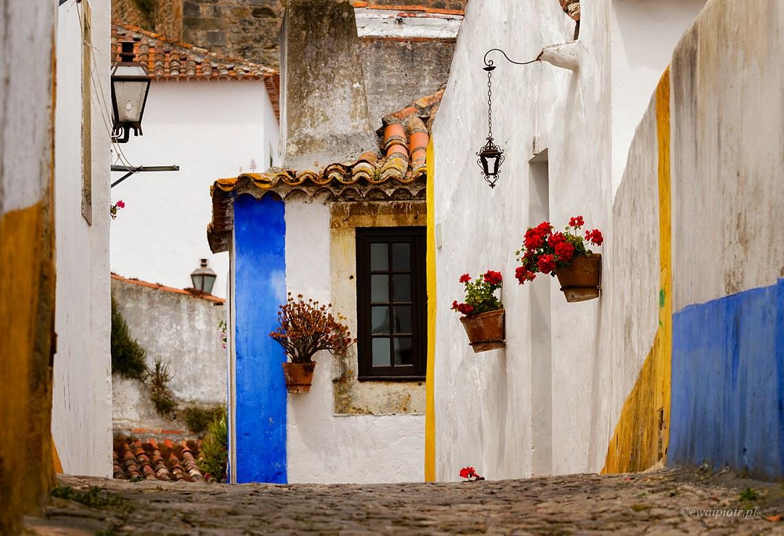 Uliczki Obidos, Portugalia