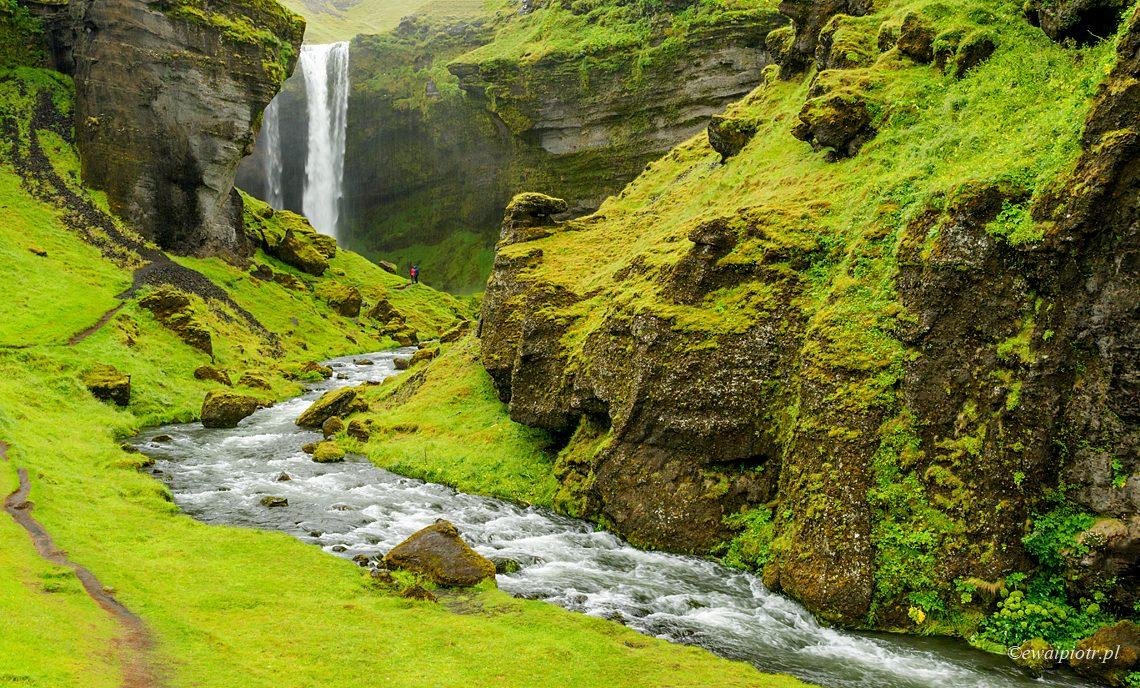 wodospad Kvernufoss, Islandia