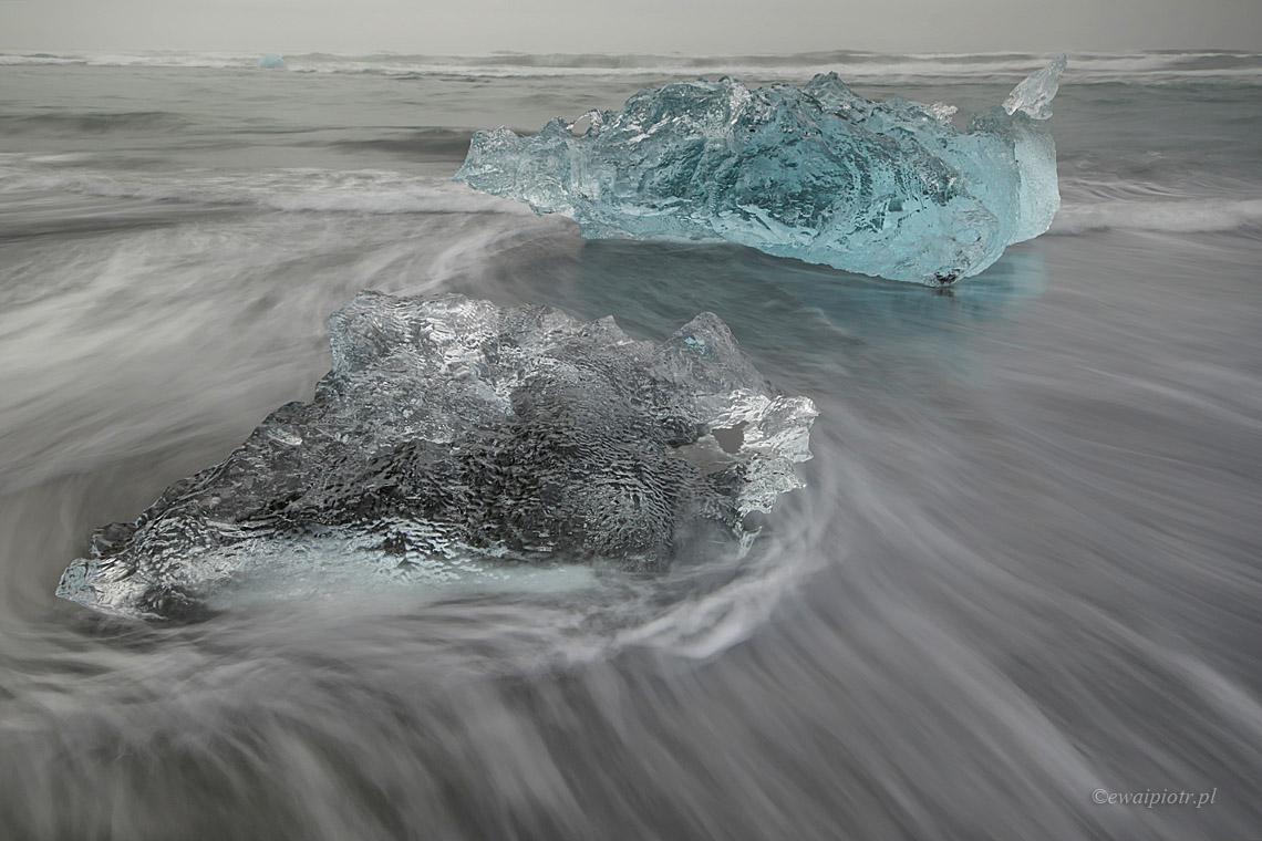 Lody Jökulsárlón, Islandia
