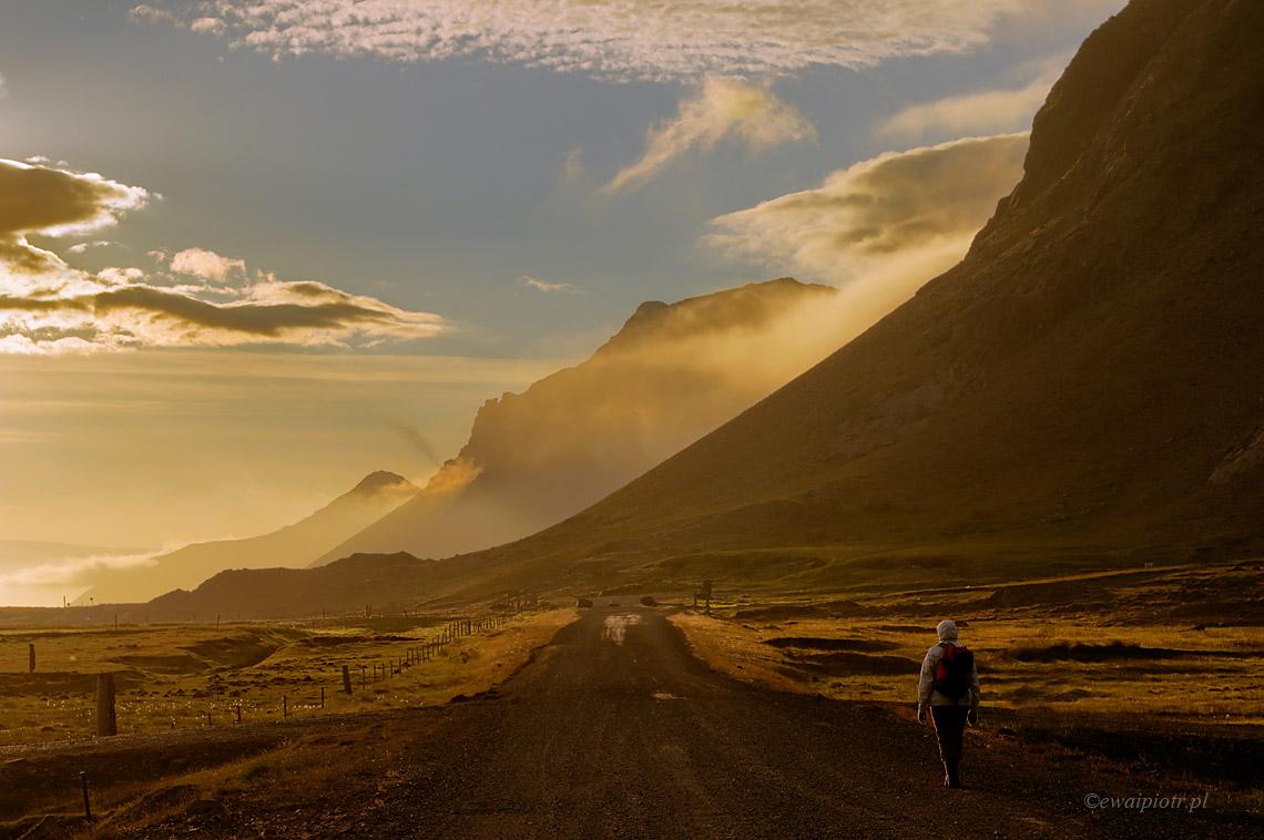 Wracając z Vestrahorn, Islandia