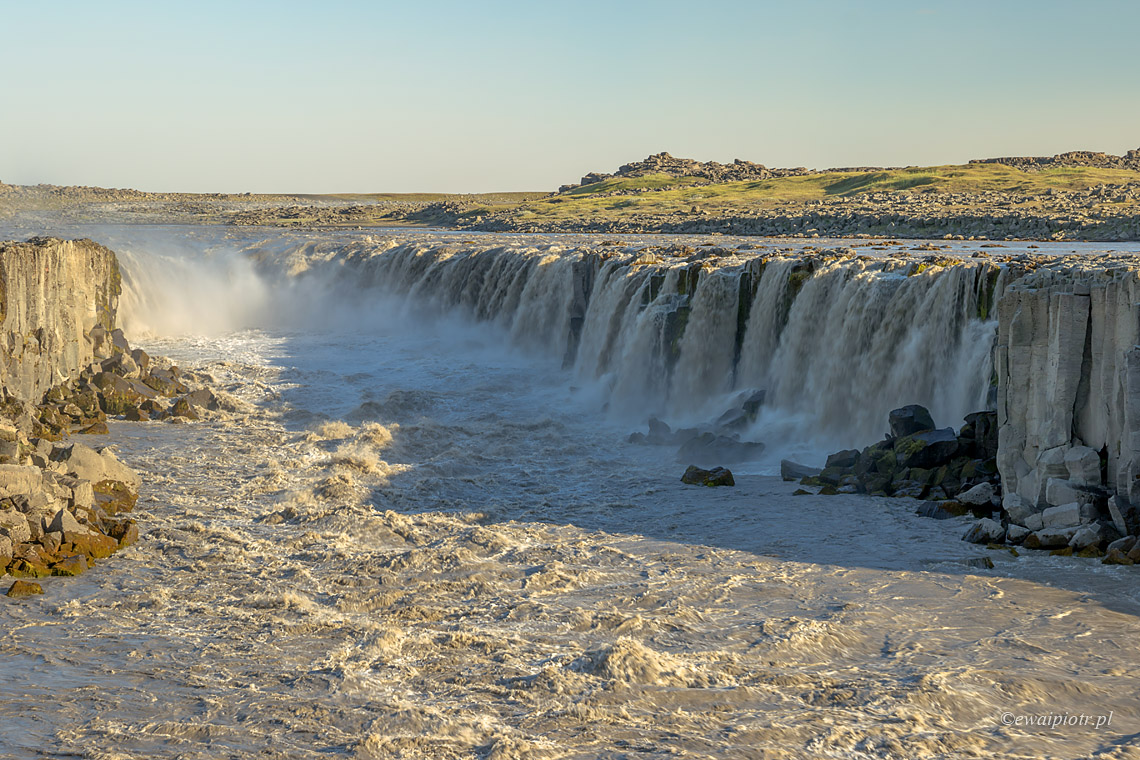 Wodospad Selfoss bez filtra, Islandia