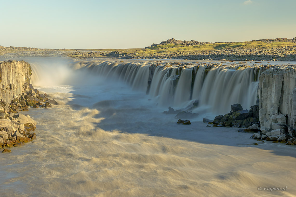 Selfoss i test filtr szary Manfrotto ND64, Islandia