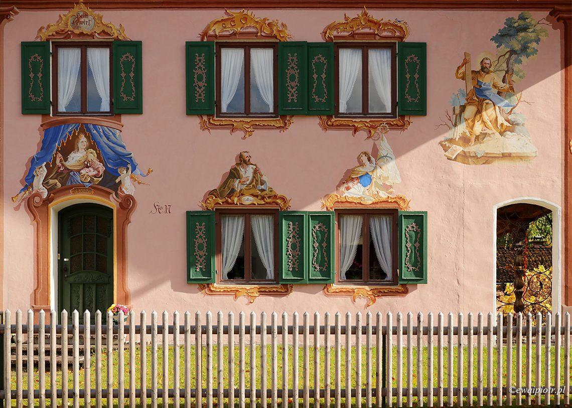 Bawaria, malowany dom