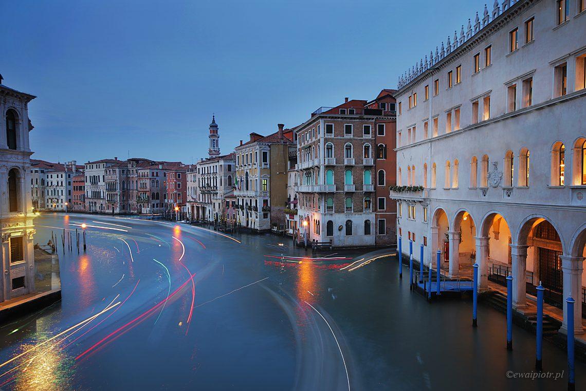 złota godzina w Wenecji, długa ekspozycja