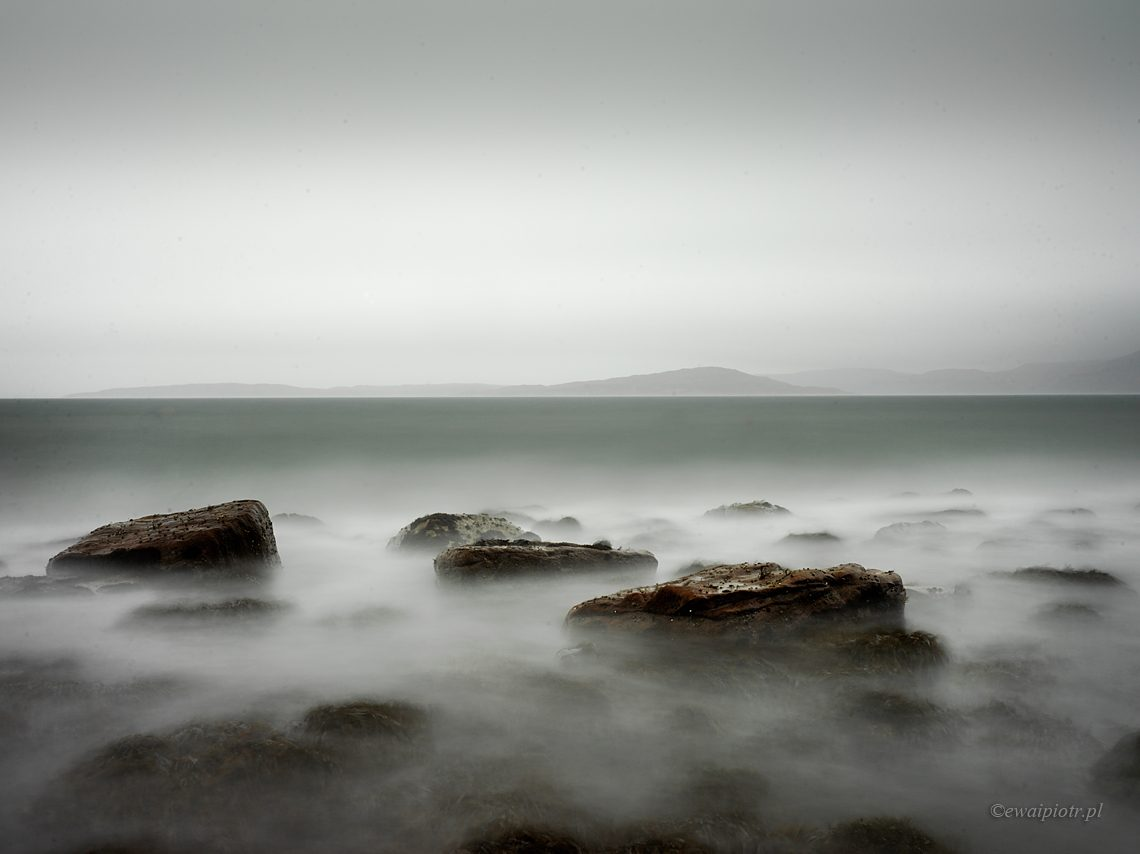 Plaża Elgol, długa ekspozycja Hasselblad X1D