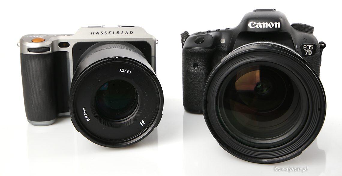 Średni format kontra APS-C - Hasselblad X1D i Canon 7D Mark II