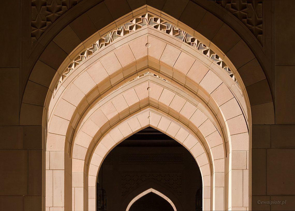 Wielki Meczet i jego łuki, Oman