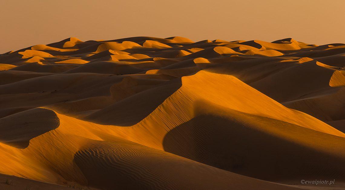Fale piasku na Pustyni Sharqiya, Oman