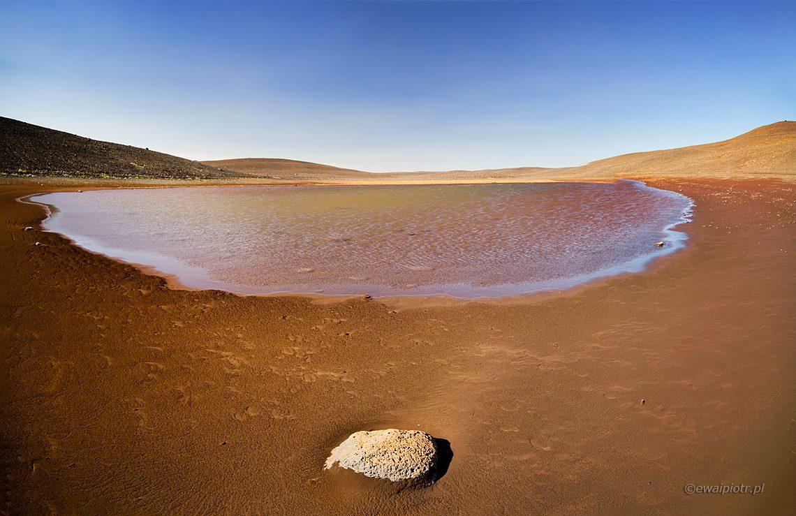 Kamień i jezioro, panorama zamiast