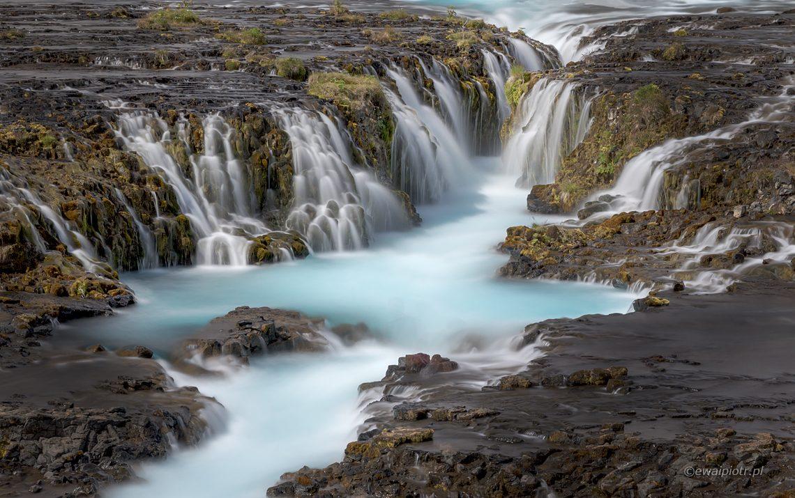 Islandia, wodospad Bruarfoss, warsztaty fotograficzne