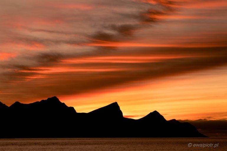 Fotowyprawa na Lofoty, zachód słońca