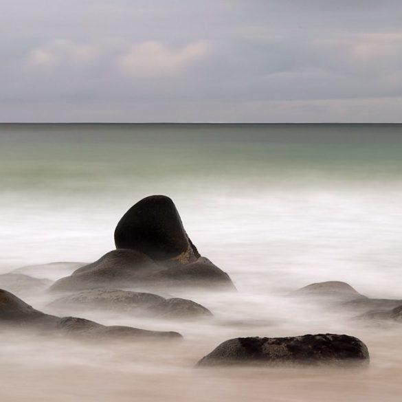 Hiroshi Sugimoto tribute, Lofoty, seascape