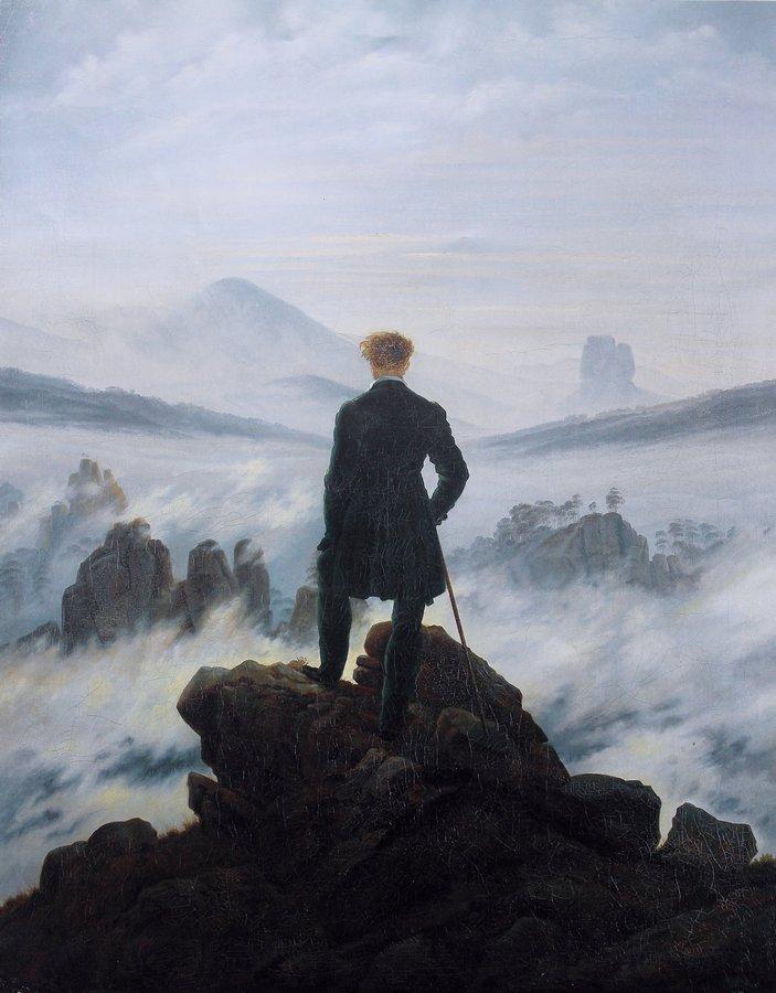 Caspar David Friedrich, Wędrowiec nad morzem mgły, malarskie inspiracje dla fotografa