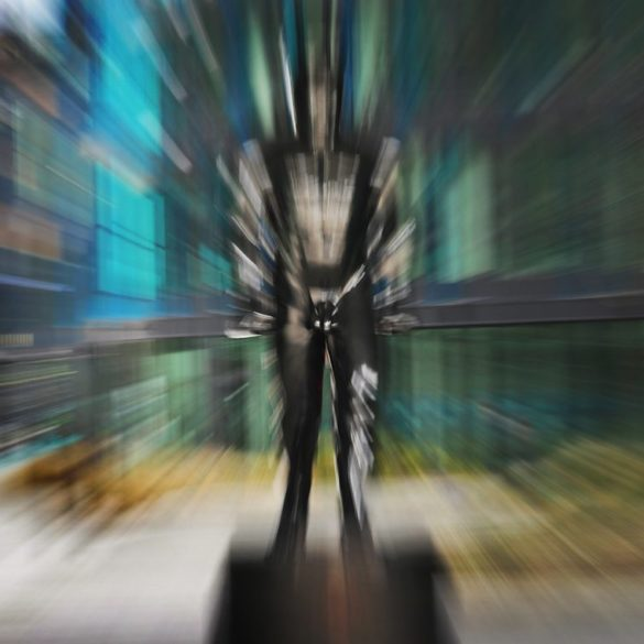 David Černý, rzeźba Speederman, zoomowanie