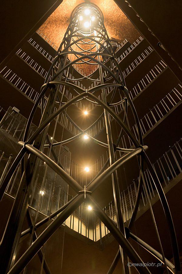 Winda w wieży ratusza, Praga, warsztaty fotograficzne