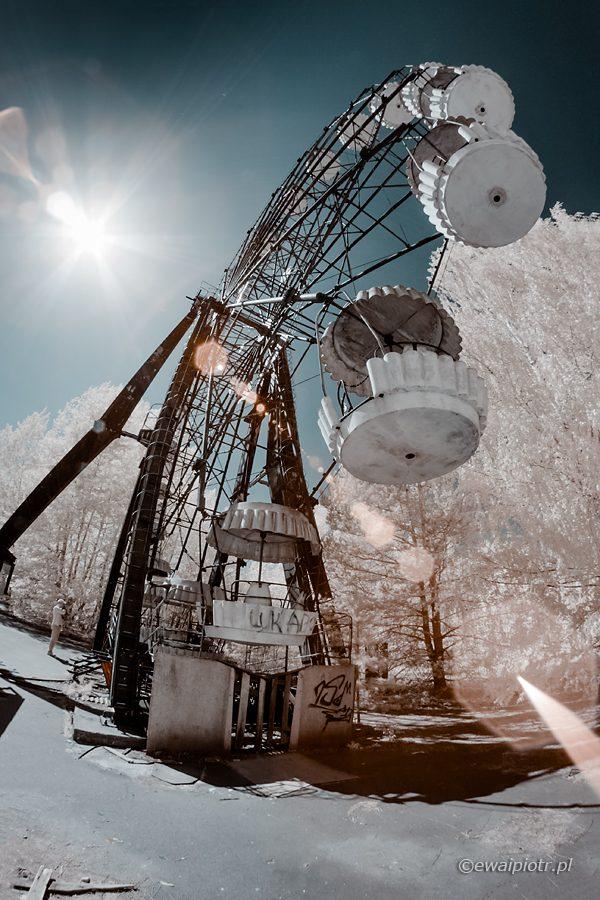 Czarnobyl i Prypeć fotowyprawa, diabelski młyn, Prypeć, podczerwień