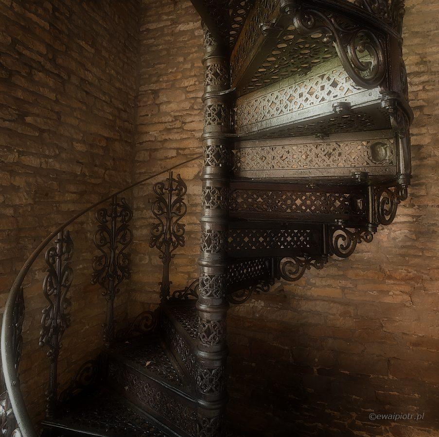 Stalowe schody, kute schody, Chlebowiec, muzeum, Świętokrzyskie, warsztaty fotograficzne
