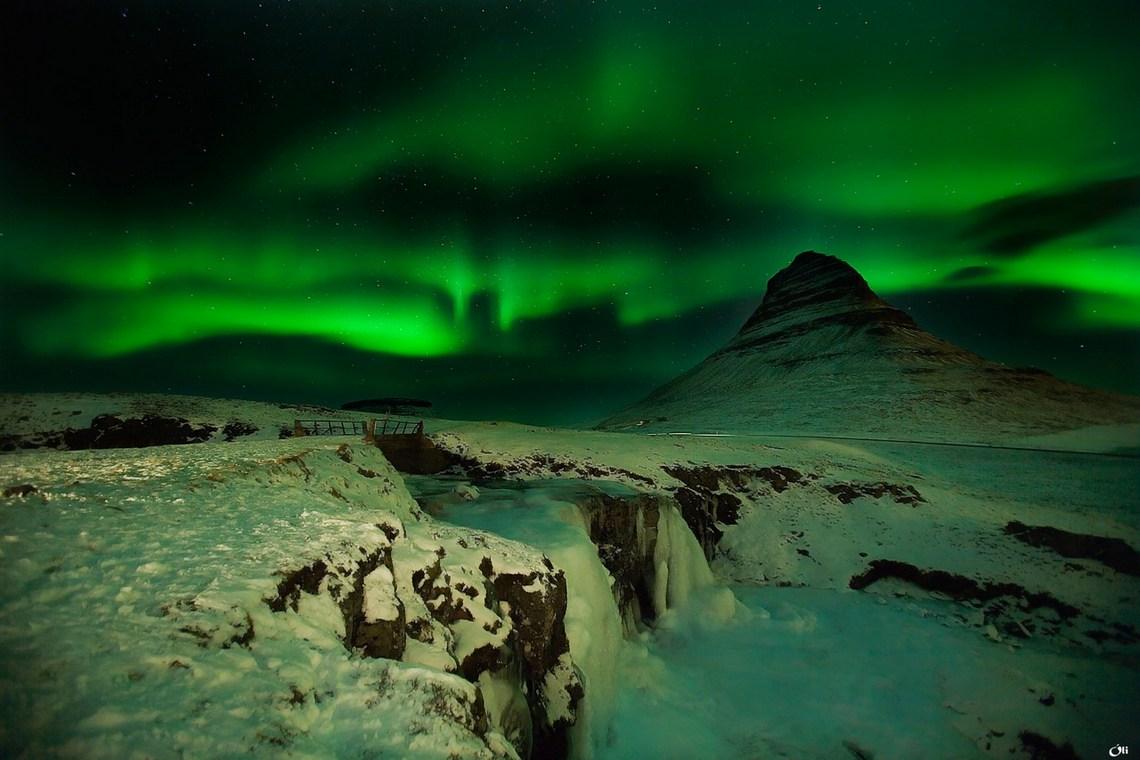 Góra Kirkjufell, zorza polarna, warsztaty fotograficzne Islandia, zima, fot. Victor Montol