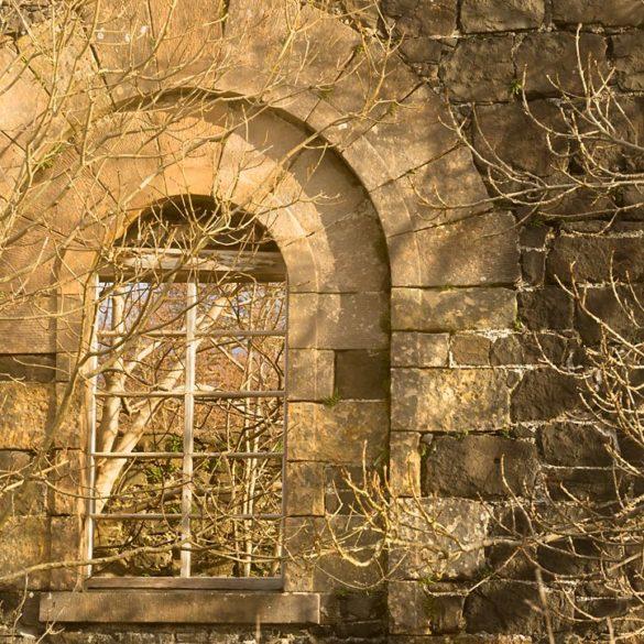 Okno, Szkocja, wyspa Skye, łuk, zarośnięte okno