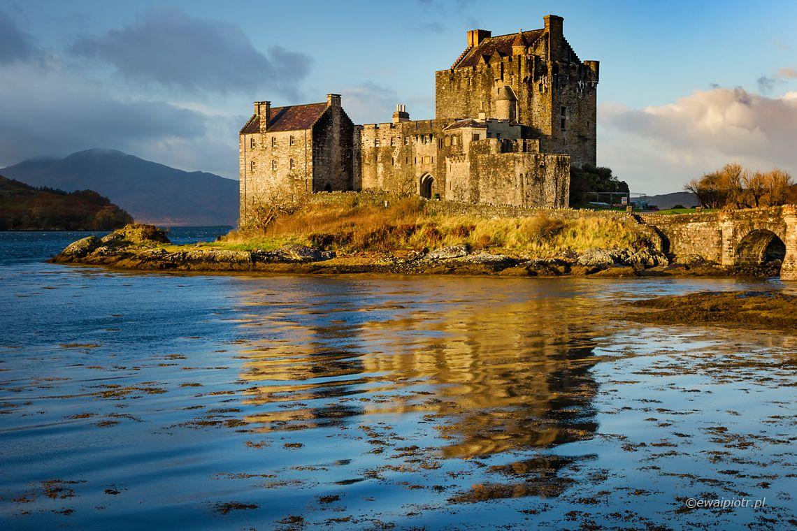 zamek Eilean Donan, Szkocja, odbicie w wodzie, warsztaty fotograficzne