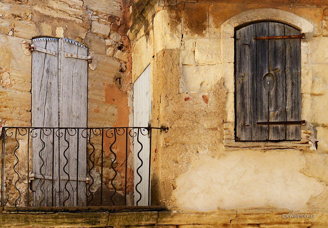 Balkon i okiennice, Prowansja, fotowyprawa