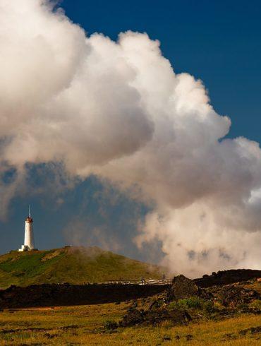 pole geotermalne, latarnia morska, Islandia, fotowyprawa