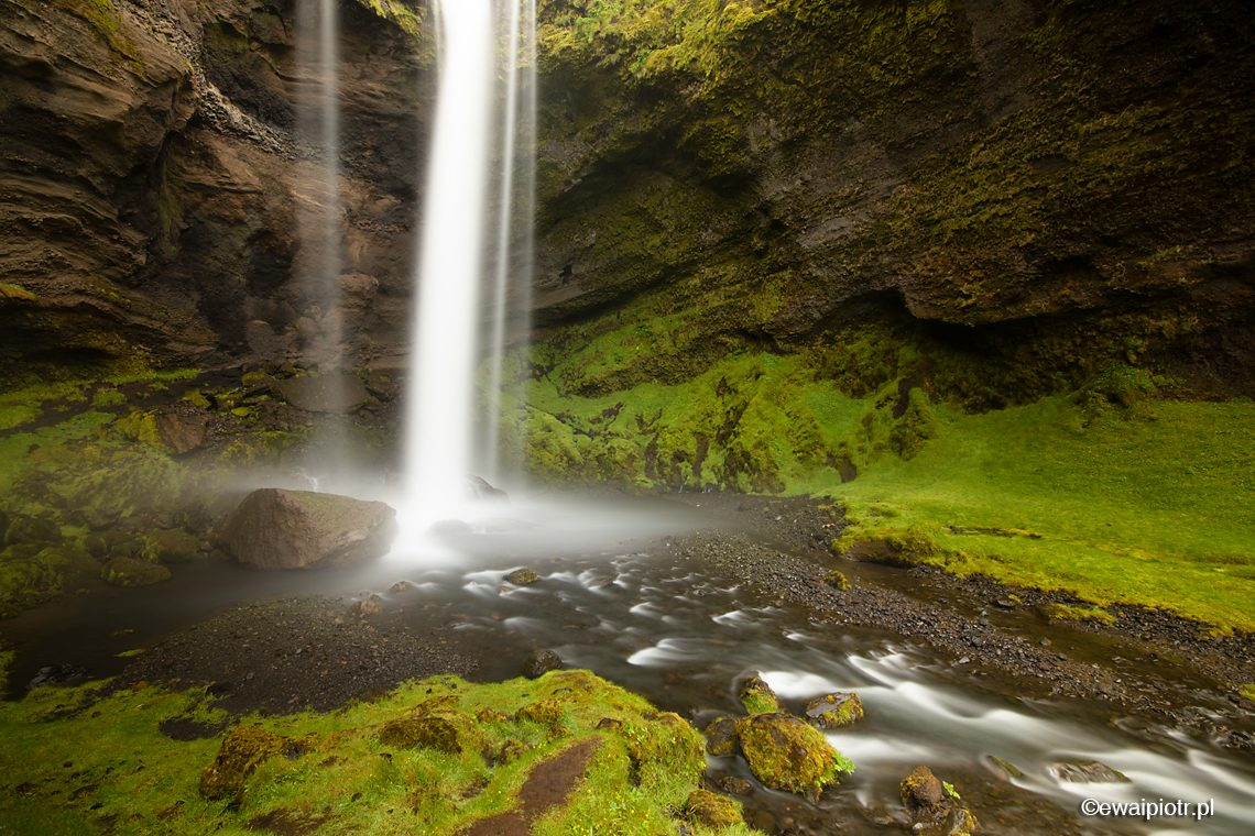 Wodospad Kvernufoss, Islandia, warsztaty fotograficzne