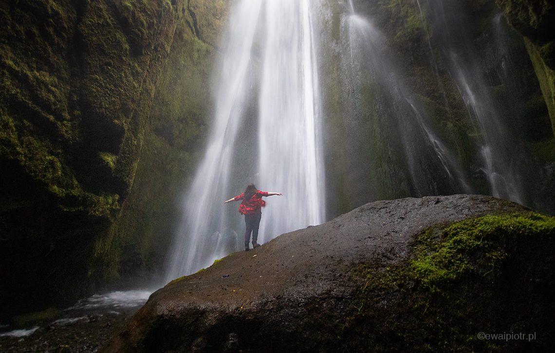 wodospad Gljufrabui, ukryty wodospad, Islandia