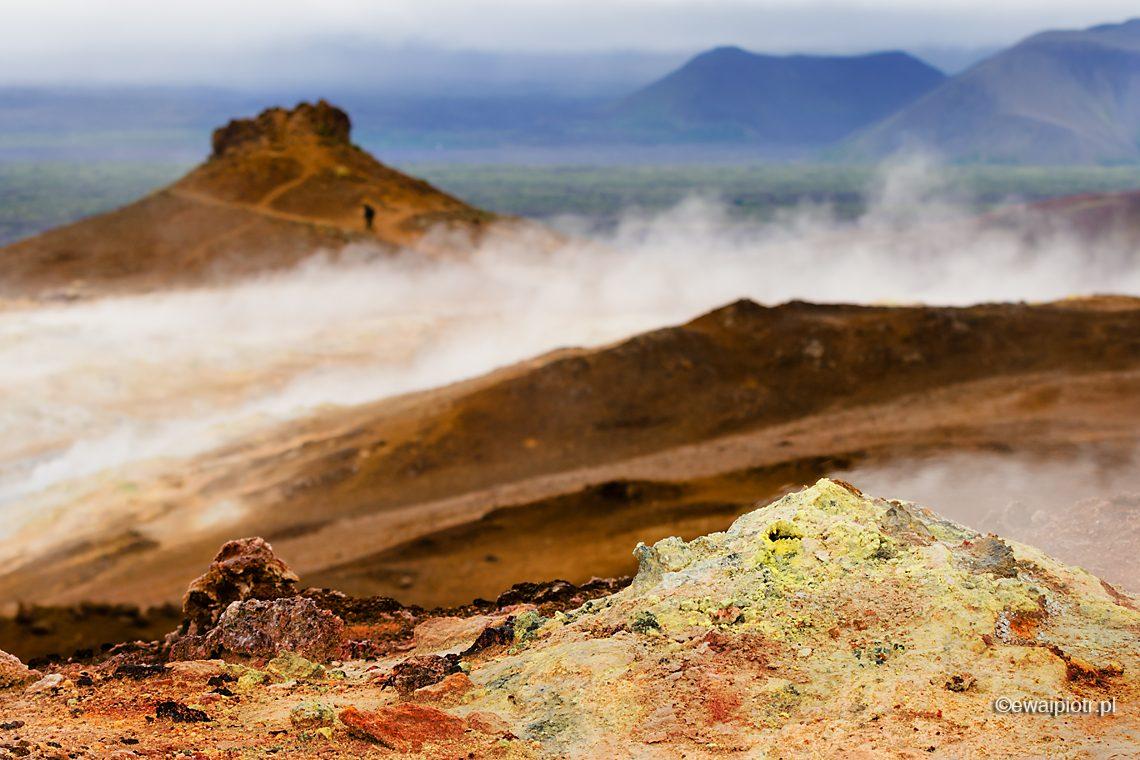 Hverarond, pole geotermalne, wyziewy, Islandia,