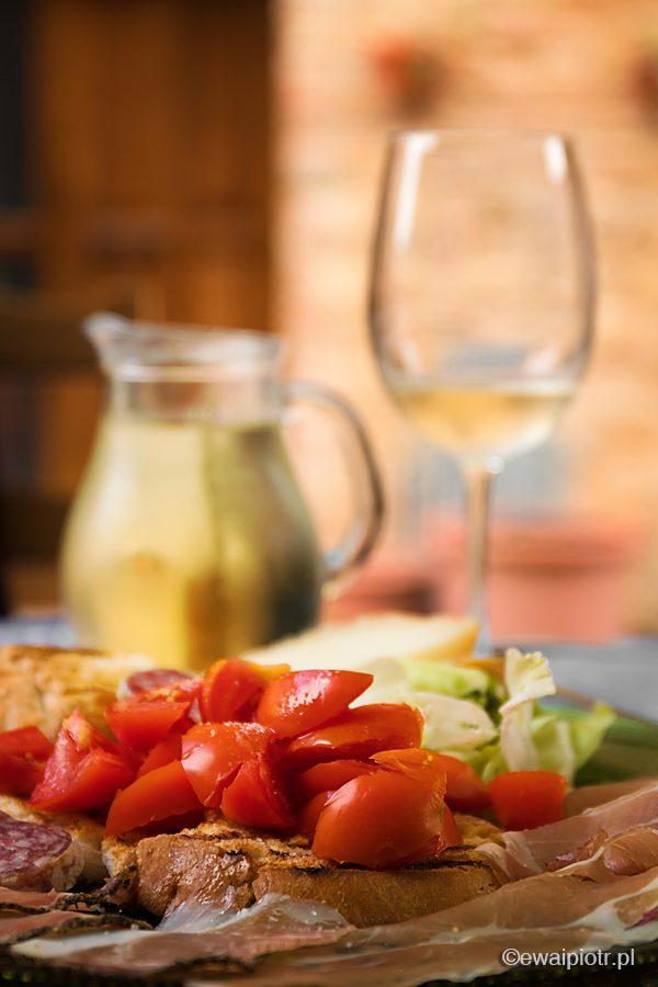 brusquetta i wino, Toskania, fotowyprawa
