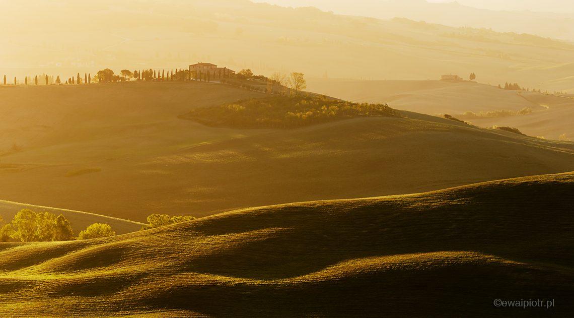 Wschód słońca w Toskanii