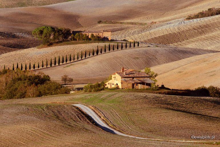 willa i pola jesienią, Toskania, fotowyprawa