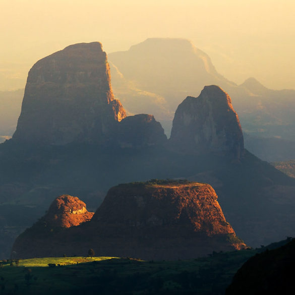 Poranek w górach Siemen, Etiopia
