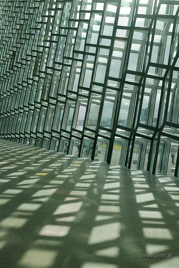 Światło w Reykjaviku, Islandia
