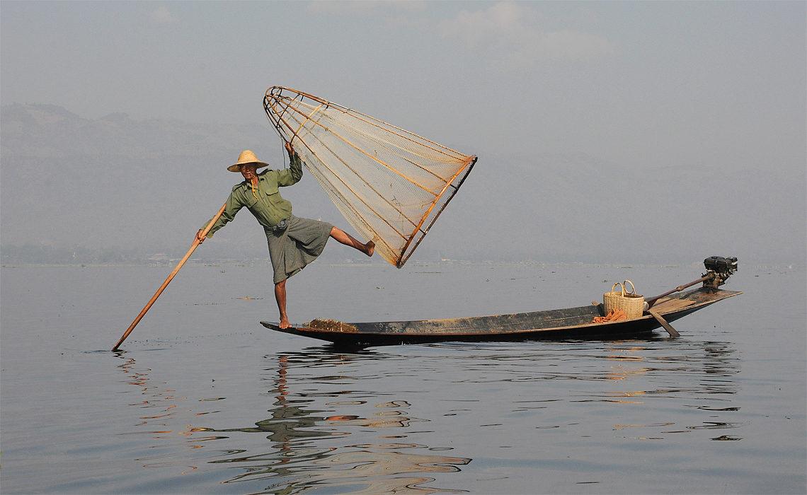 Rybak z koszem, Birma, fotowyprawa Birma