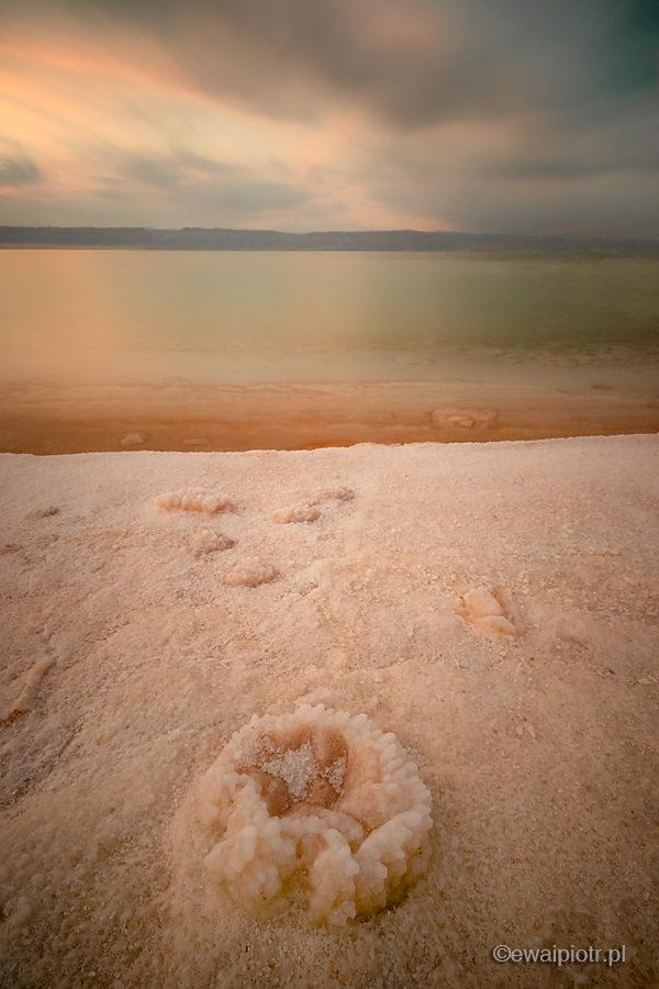 Morze Martwe o zachodzie, Jordania