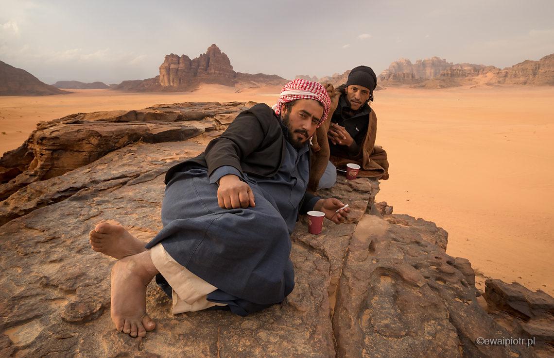 Herbatka na Wadi Rum, Jordania, portret