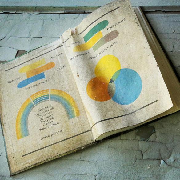 Nauka optyki, Czarnobyl, porzucony podręcznik, urbex, ruiny