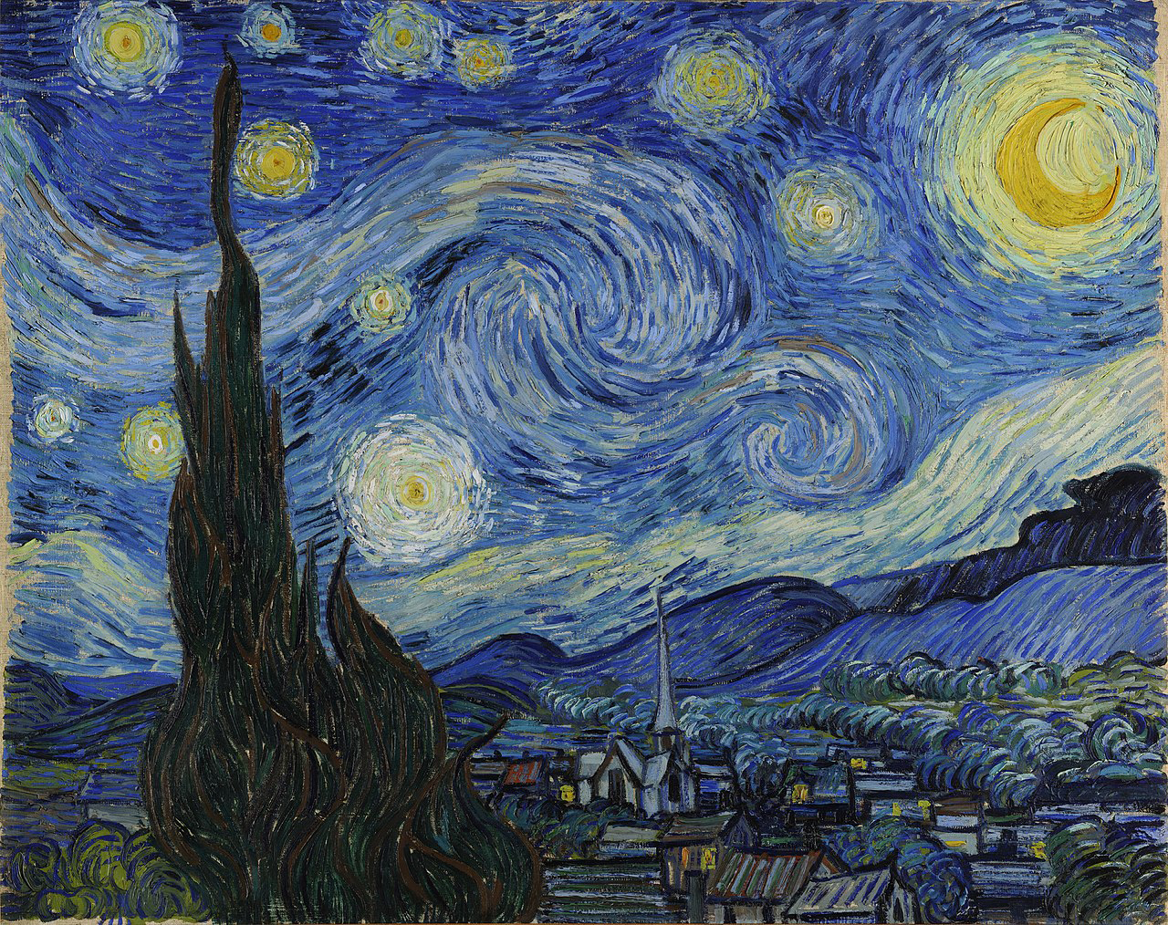 Van_Gogh_-_Starry_Night Gwiaździsta Noc
