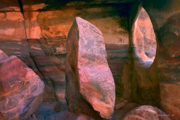 Latające kamienie, Petra. Jordania