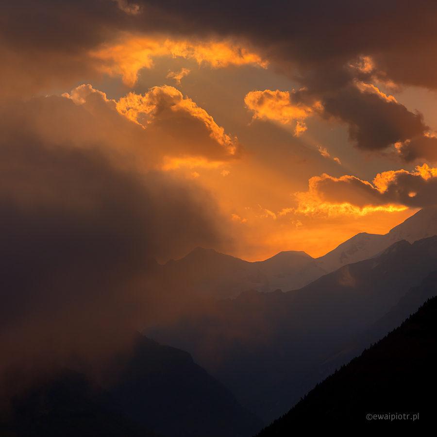 Wschód słońca nad Kaukazem, Gruzja