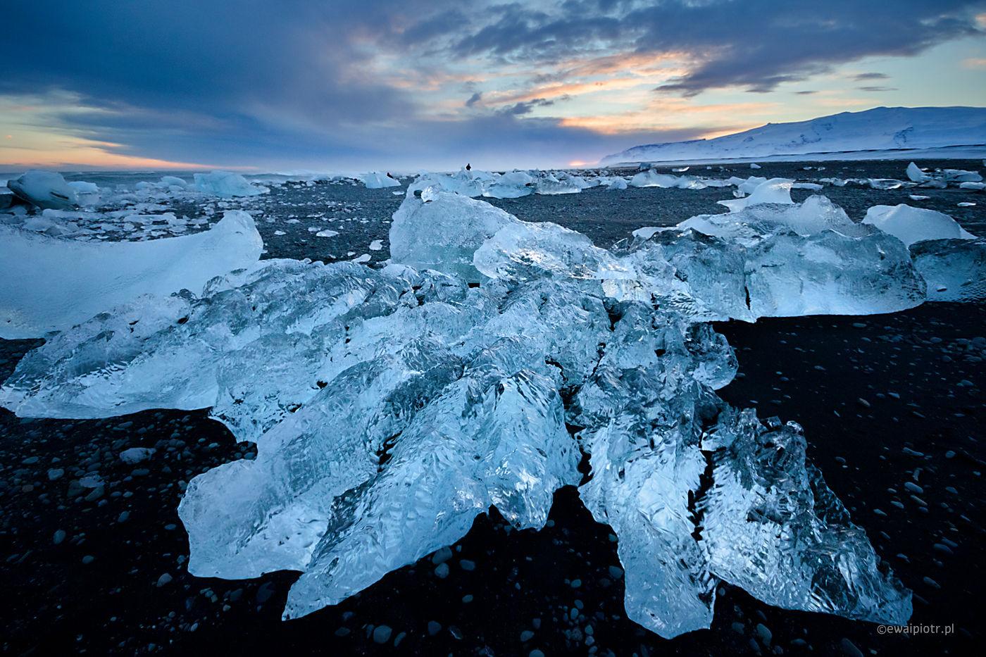 Zimową porą na Jokulsarlon, Islandia