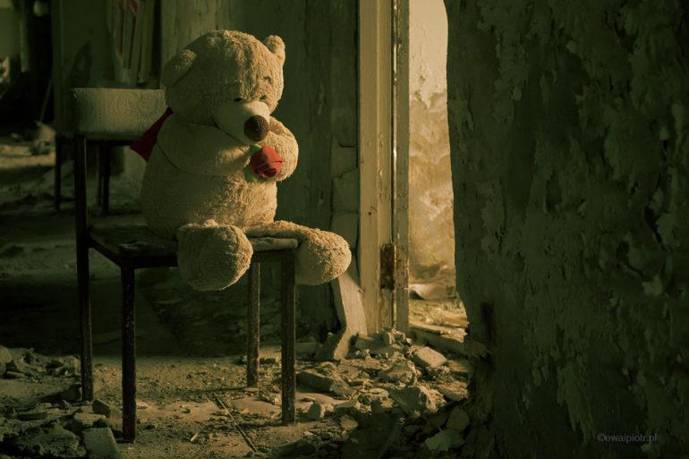 Miś ze Strefy, Czarnobyl, fotowyprawa, maskotka, pluszak